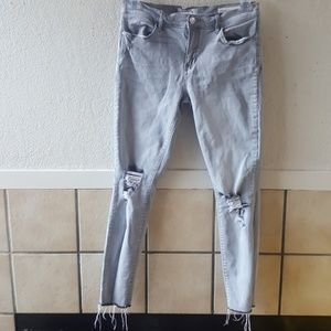 Pacsun grey ankle jegging size 27 EUC